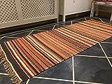Second Nature Shillong Geometrische Streifen Wolle Kelim Teppich (Fair Trade) 70cm x 180cm