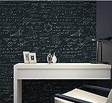 Loaest Tafel geometrisch mathematische Formel Gleichung Persönlichkeit Wallpaper Kinder Zimmer Cafe Restaurant Tapete, Schwarz, 1-Volume