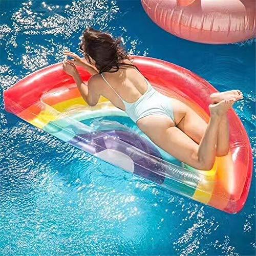 Schwimmbad Luftmatratze Strand Mat Aufblasbare Pool Float Regenbogen Float Pool Lounge Floß Sommer Strand Insel for Party Feier Liefert Party Spielzeug (1 Paket) Float Wasserspielzeug zum Spaß - Stauraum-insel