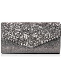 Montary Glitter Sparkle Diamante Envelope Womens Clutch Bag Ladies Clutch  Purse Evening Bag… 9e5069f315a5