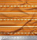 Soimoi Orange Viskose Chiffon Stoff aztekisch südwestlich