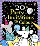 20 Party Invitations to Colour (Activity and Puzzle Cards)