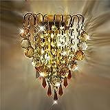 Wandun Golden Led Lampada Salotto Camera Da Letto Comodino Parete Applique In Cristallo