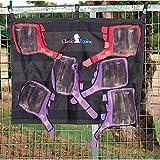 Classic Equine Horse Boots Quick Dry Aufhängen Wash Rack 4Haken Schwarz