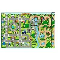 Playlearn WIPE CLEAN - Giant 172cm x 120cm Kids City Cars Playmat EVA foam Mat (Indoor or Outdoor)