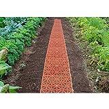 MUNDUS 33149 Lot de 5 Dalles de jardin potager Marron 29 x 29 x 1,5 cm