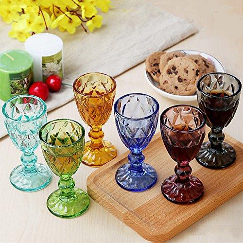 delmkin Juego de 6colores Copas de vino de gran calidad Vino Blanco