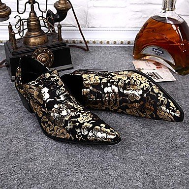Chaussures d'hommes Amir Limited Edition Tempérament Oriental Mariage/Soirée Party & Oxford Cuir Gold Golden