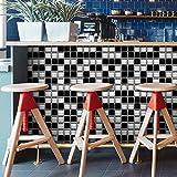 HyFanStr 20 x 500 cm Abziehen Stick Duett Brick Wall Effekt Selbstklebend Fliesen Aufkleber Küche Decor Mosaic-Black