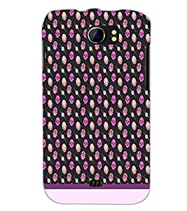 PrintDhaba Skull pattern D-1948 Back Case Cover for MICROMAX A110 CANVAS 2 (Multi-Coloured)