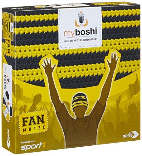Noris Spiele 606311345 My Boshi, Fan Mütze In Den Vereinsfarben schwarz gelb