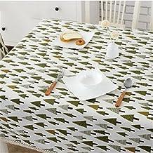 HJHET Rústico simple tela de algodón dulce mesa rectangular de tela 100*150cm.