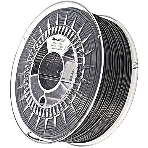 Minadax 0,75kg haute qualité pour 1,75mm ASA-Filament en acier gris x pour Imprimante 3D fabriqué en Europe