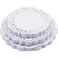 DXIA 300 Pièces Dentelle Blanc du Papier Napperon,Table de Papier de Bout Blanc Napperons, Papier Décoratif Arts de La…