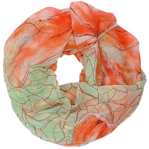 CASPAR - Écharpe tube pour femme - châle avec papillons et fleurs - SC365