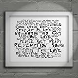 `Noir Paranoiac` Art Print - BOB MARLEY AND THE WAILERS - Legend - Signed & Numbered Limited Edition Typography Unframed 10x8 Inch Album Wall Art Print - Song Lyrics Mini Poster