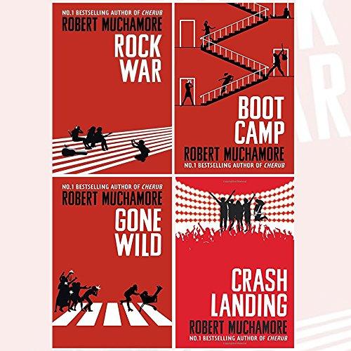 Rock War Series Robert Muchamore Collection 4 Books Set (Rock War, Boot Camp, Gone Wild, Crash Landing)