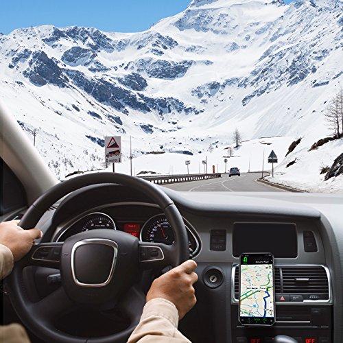 Mpow [2 Pezzi] Supporto Magnetico Auto Universale [Garanzia A Vita] Supporto Auto Smartphone Porta Telefono per Tutti Gli Smartphone e GPS, iPhone, Galaxy, Huawei P9, Nota, LG, Nexus, HTC - 9