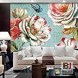 Aolomp Wallpaper amerikanischen Farbfernseher die Wand getroffen, der das Wohnzimmer Sofa Hintergrundbild geblümten Tapeten große Wandmalereien