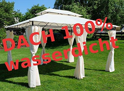 ASS verschiedene Gartenpavillon Pavillon mit Dachstoff mind. UV30+ UV50+ rechteckig eckig rund 3x3 3x4 3,5x3,5 Meter von Größe:3x4 Meter UV30+