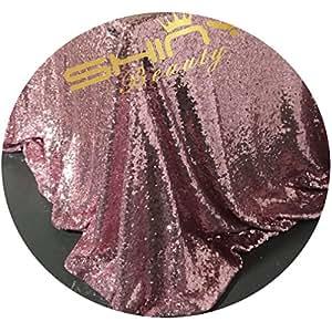 shinybeauty sequin-fabric al metro paillettes Mesh rosa oro 1metro 2modi Glitter Materiale elastico tessuto per cucire paillettes abito da sposa/Sequin Tovaglia DIY