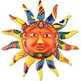 YiYa métal soleil mur Art décor métal coloré soleil visage pour salon chambre bureau à domicile Bar boutique Patio jardin déc
