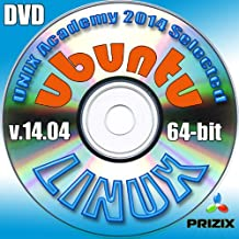 Ubuntu 14.04 Linux DVD 64-bit Full Installation Includes Complimentary UNIX Academy Evaluation Exam