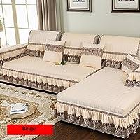 Funda antideslizante cuatro estaciones para sofá y cojines, estilo europeo 80 * 180cm beige