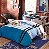 Simples fina ropa de cama de cuatro conjuntos de piezas, europeos y americanos, hojas de estilo funda de edredón, traje
