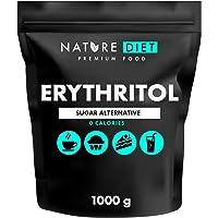 Nature Diet Erythritol - Dolcificante naturale, 2 confezioni da 1000 g