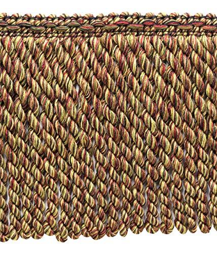 DecoPro Lot de 16,5 m - 15 cm de Long Bordeaux, châtain Chameau, Vert branché, Noir, Marron, Frange Moka Bullion Style #‿BFDK6 (11881) - Couleur : Toscane - N40 (16,5 m)