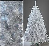 220cm Künstlicher Weihnachtsbaum Tannenbaum Christbaum weiße Tanne Weihnachtsdeko