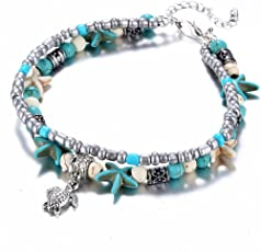 Shining Diva Fashion Silver Plated Anklet for Women (Multi-Colour)(9749a)