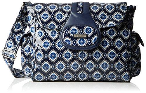 kalencom-elite-sac-a-langer-motif-medaillon-bleu-marine