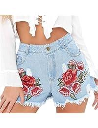 e4a45f602e0501 iBaste Jeanshose Shorts Damen High Waist Denim Shorts Kurze Hose Hotpants  Damen Jeans Hose mit…