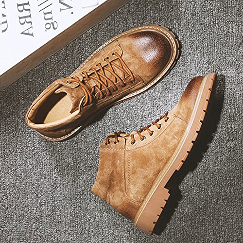 HL-PYL-Martin Scarpe Stivali alti stivali, scarpe e stivali smerigliati in coreano yellow