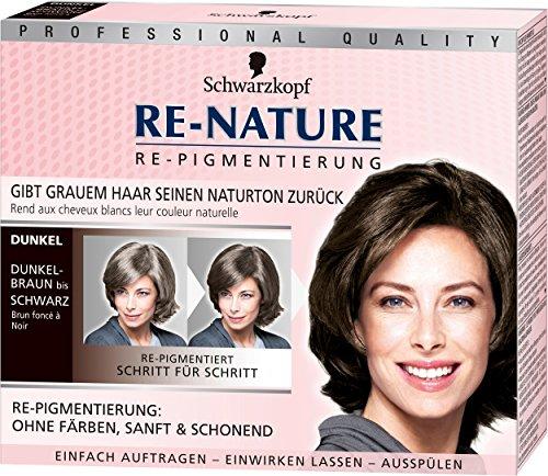 Schwarzkopf Re-Nature Re-Pigmentierung für Frauen, dunkel, 3er Pack (3 x 100 g) (Ohne Ppd-haar-farbe)