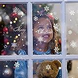 ShineBlue Weihnachtskugeln, Frohe Weihnachten Bälle und Sterne Weihnachten Fenster Dekorationen Wandaufkleber Weihnacht