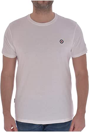 Lambretta Mens Core Target Short Sleeve T-Shirt - White - 4XL