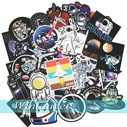 Winlauyet 50/100x Astronauten NASA Sticker Laptop Auto Kühlschrankaufkleber Kofferraum Aufkleber Marvels Figuren Stickerbomb Sticker (50)