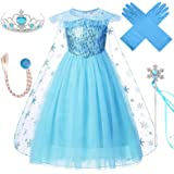 VanStar Snow Queen Costumes,Dress Girls Party Cosplay Girl Clothing Snow Queen Birthday Princess Dress Kids Costume Blue Cost
