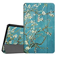 Fintie Samsung Galaxy Tab A 10.1 Case, Ultra Slim Lightweight Smart Shell Stand Cover with Auto Sleep/Wake Feature for Samsung Tab A 10.1 Inch (NO S Pen Version SM-T580/T585/T587) Tablet, Blossom