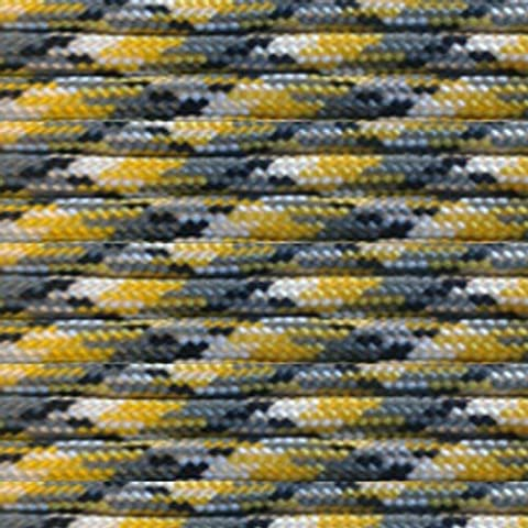 Yellow Camo 100Ft 550lb Type III Paracord Survival Rope by PARACORD PLANET