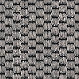 Teppichboden Auslegware | Sisal-Optik Schlinge | 400 und 500 cm Breite | grau | Meterware, verschiedene Größen | Größe: Muster