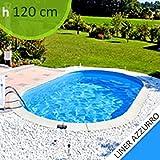 Kit piscina in acciaio SKYBLUE Comfort 600 h. 1.20