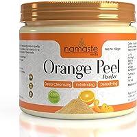 Namaste Veda Orange Peel Powder For Glowing Skin, Oil Control,Tan Removal,Skin whitening , Scars & Boosten Collagen…