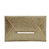 YYwangpu Pailletten Clutch Moderne Atmosphäre Clutch Abendkleid Groß Damen Clutch Black Abend Geschenk Taschen Schultertasche Party Hochzeit (schwarz),Gold