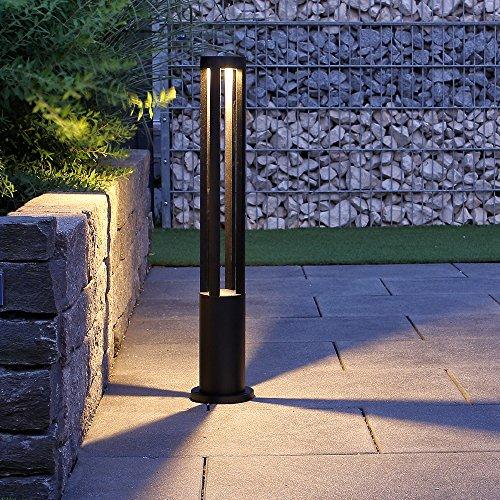 Wegeleuchte LED 10W 3000K | Wegelampe 80cm modern | Außenleuchte schwarz IP65 | Garten Terrassen-Leuchte | Lampe Aussen 230V inkl. 1 x 10W LED-Leuchtmittel