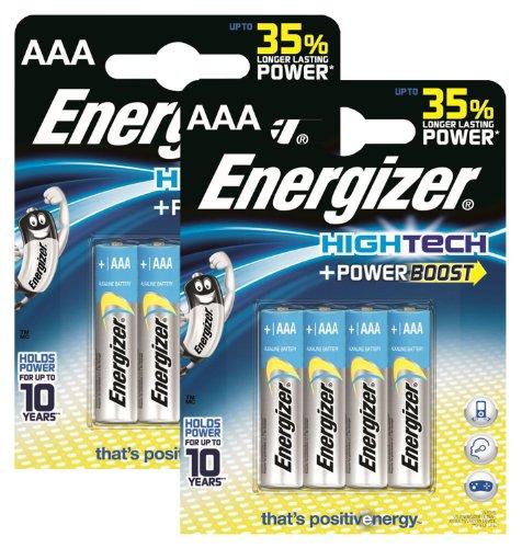 Energizer - Pile originali high-tech Micro AAA, 1,5 V, 2 confezioni da 4