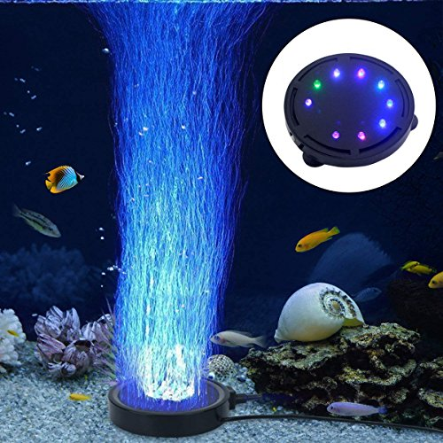 LONDAFISH Aquarium Bubble Light LED Aquarium Aquarium Luft Stein Lichtpumpe Luftblase Stein Lampe
